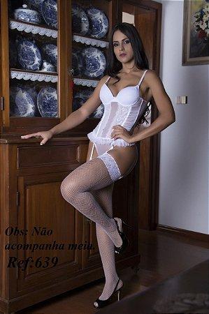 Espartilho em tule e renda Garota Veneno