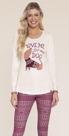 Pijama em Algodao com calça legging Mensageiro dos Sonhos