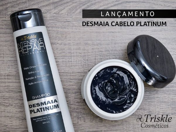 kit Desmaia Platinum shampoo 350ml mask 300g
