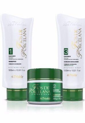 Triskle cosméticos - kit cachos para cabelos cacheados