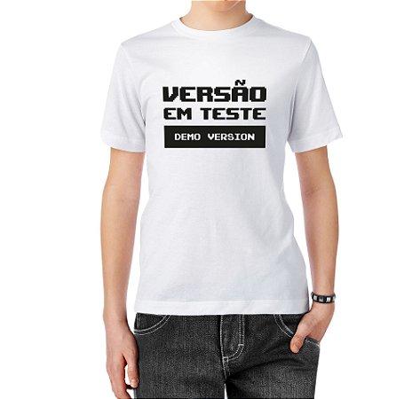 Camiseta Normal Versão em Teste