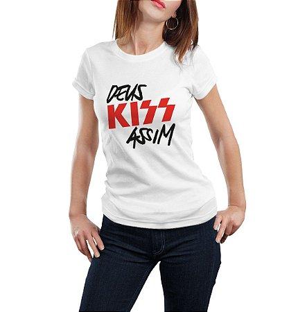 Camiseta Babylook Deus Kiss