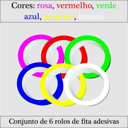 Fita Adesiva Colorida - Sortidas