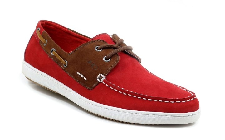 Docsider Casual Masculino Pinus Orlandelli  Vermelho DS20N6