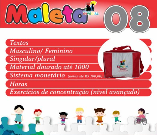 Maleta 08 - Kit com 30 Pastas