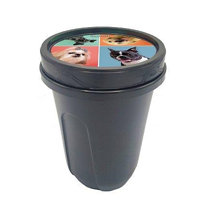 Porta palito com tampa rosca e estampa exclusiva it.dog 1l