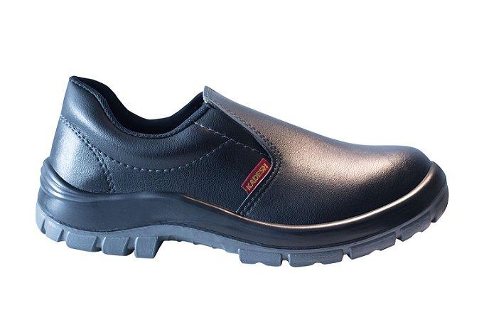 Sapato  Elástico MICROFIBRA Preto Kadesh c/ Biqueira de PVC