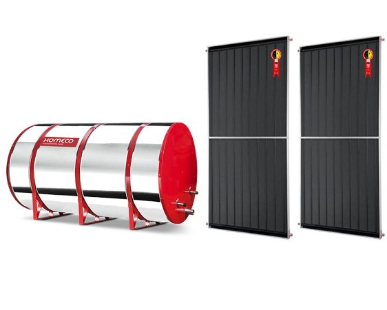 Boiler Solar 400l Alta Pressão c/ 2 Placas 2,00 x 1,00 komeco