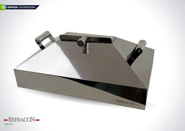 Abafador Inox para Churrasqueira 64cm Refracon