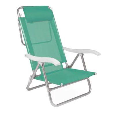 Cadeira de Praia Reclinável Com Almofada Sol de Verão MOR