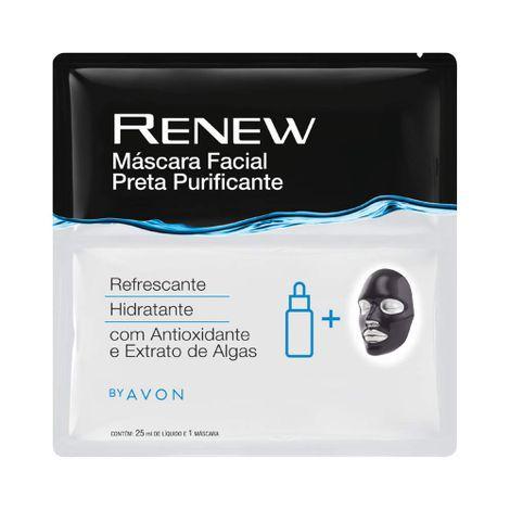 Máscara Facial Preta Purificante Renew  25 ml