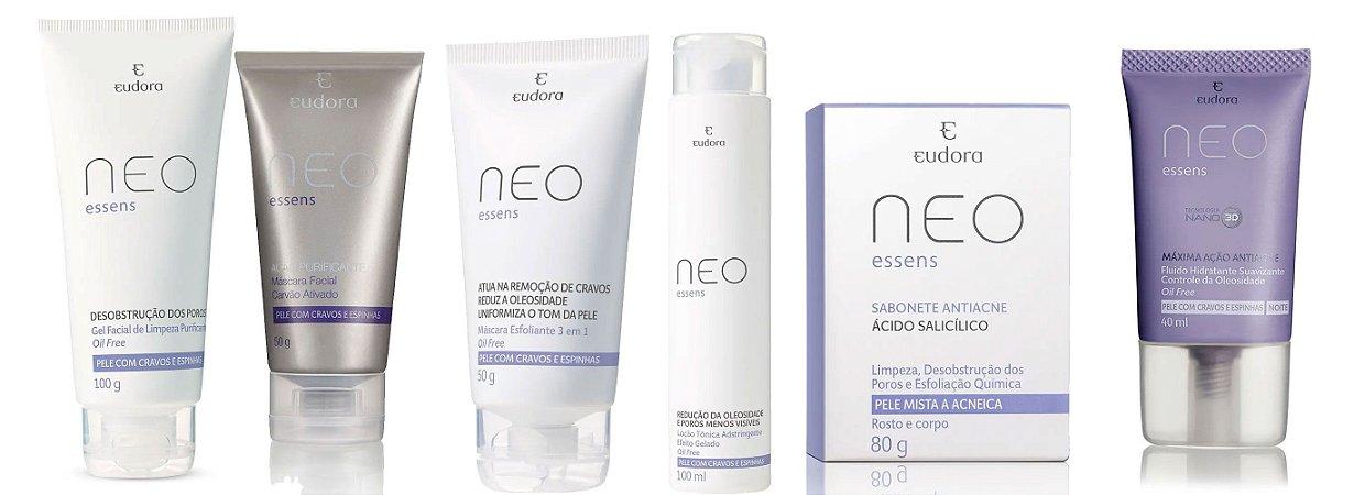 Kit anti acne Neo Essens Eudora 6 itens