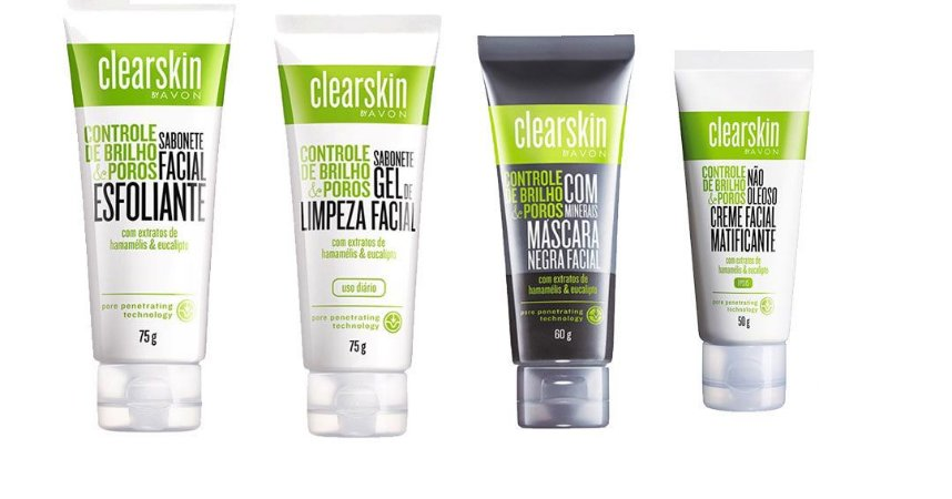 Kit Clearskin limpeza de pele  Sabonetes e Mascara Negra -