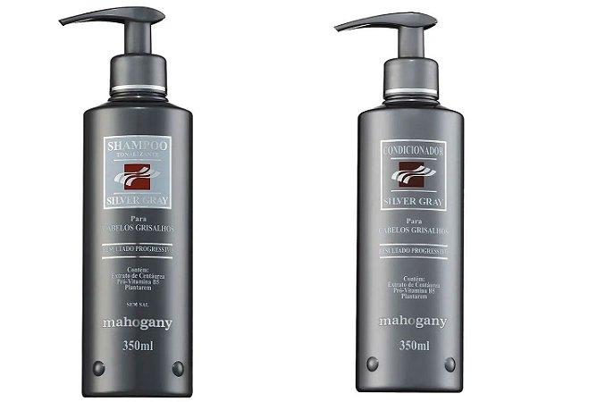 Kit Shampoo e Condicionador Silver Gray 350ML para Grisalhos