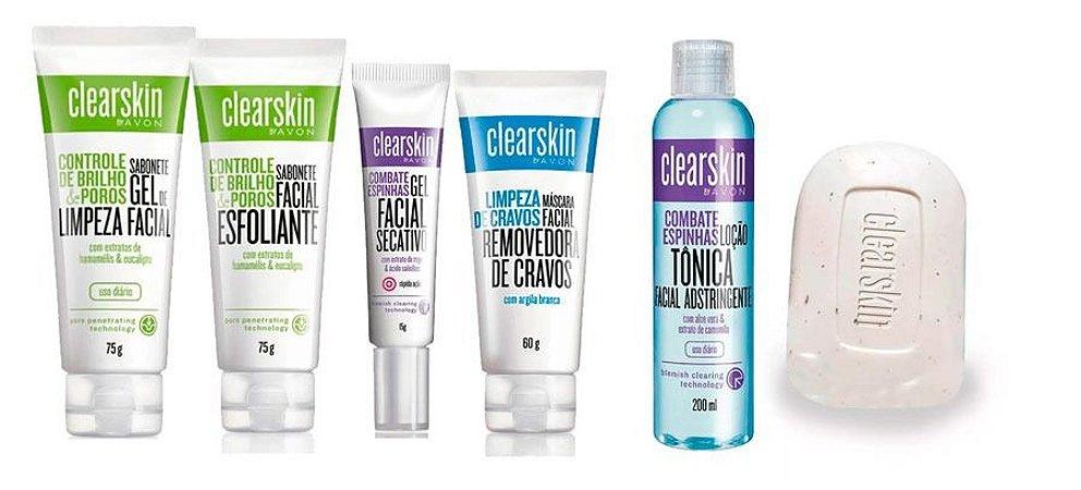 Kit 06 Produtos Avon Clear Skin Acne E Cravos -personalizado