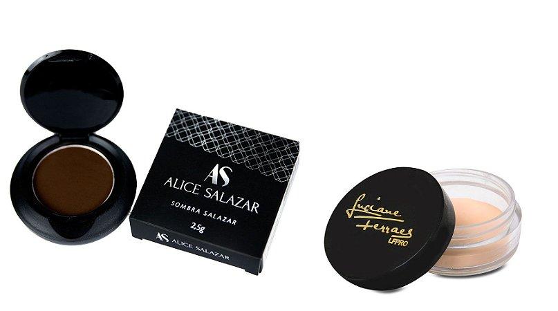 Kit Sombra Marrom  Alice Salazar e Fixador Lfpro
