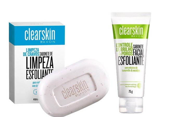 Kit Sabonetes Facial Esfoliante  Clearskin Antiacne e Cravos