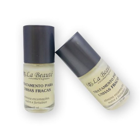 KIT COM  2 BASE TRATAMENTO PARA UNHAS FRACAS LA BEAUTÉ 15 ml