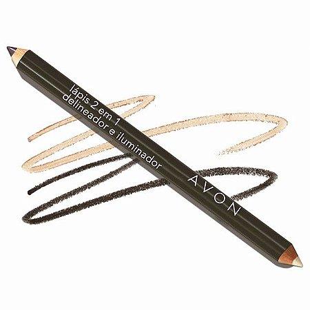 Lápis Delineador e Iluminador para os Olhos 2 em 1- PRETO