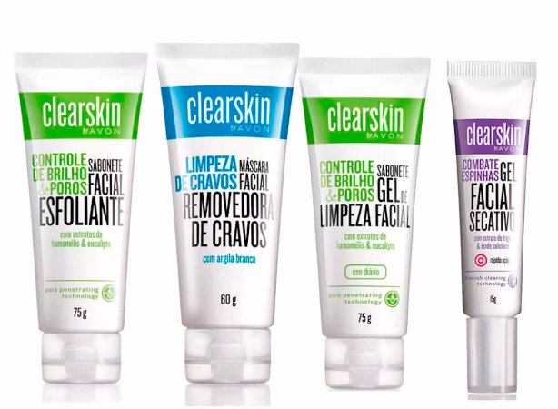 Kit Contendo 04 Produtos  Avon  Clear Skin Homologado Anvisa