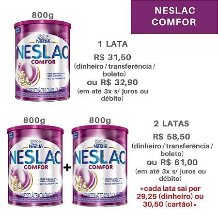 Kit 2 latas de leite Neslac Comfor