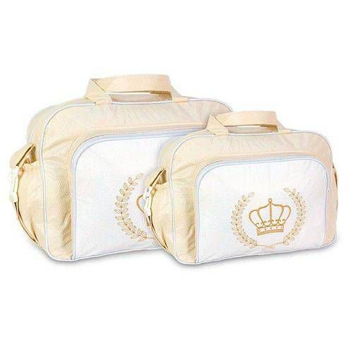 6e0992288 Kit 2 Bolsas Maternidade - Creme Branco - baramuch