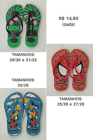 Chinelo Infantil / Modelos e Tamanhos no Zap 31988484125 / R$14,90