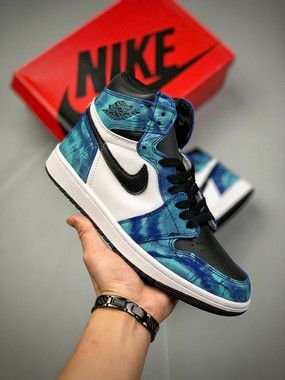Tênis Air Jordan 1 Retro High Tie Dye - Ocean Blue