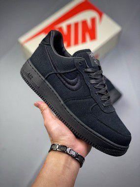 Tênis Stüssy x Nike Air Force 1 Preto
