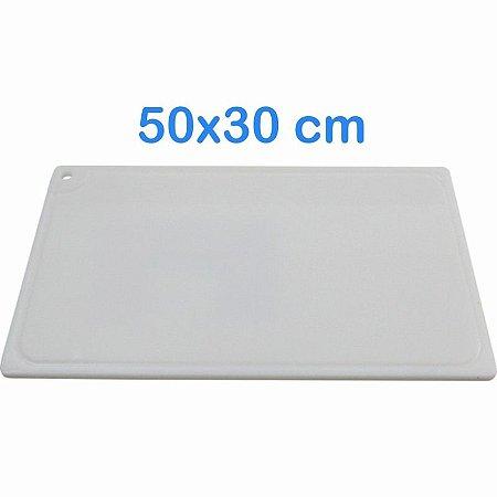Tabua de Corte 50 x 30cm em Polietileno Branco