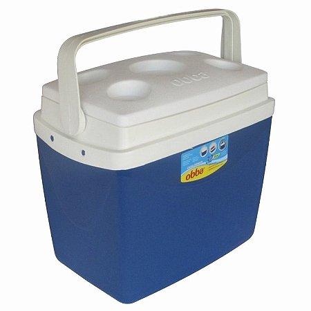 Caixa Térmica 32 Litros com Trava e Alça Obba Azul
