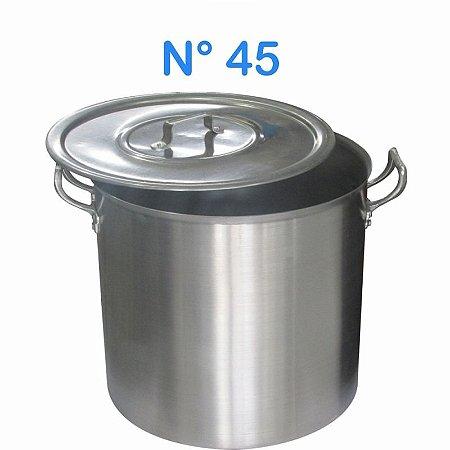 Caldeirão de Alumínio N° 45 Linha Hotel 68 Litros
