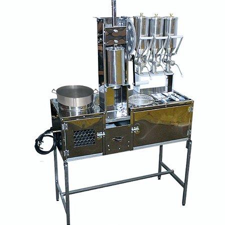 Bancada de Churros com 3 Doceiras e 1 Masseira de Engrenagem + Brinde