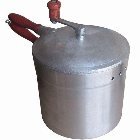 Panela Pipoqueira Profissional De Alumínio Fundido 5 Litros