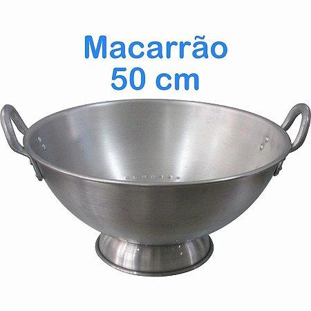 Escorredor de Macarrão de Alumínio Linha Hotel 50cm