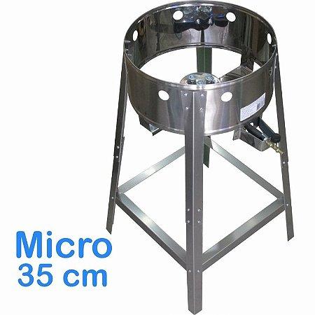 Fogão Pasteleiro em Inox Micro 35cm Alta Pressão