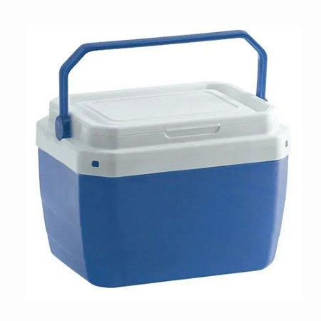 Caixa Térmica 6 Litros Azul Portátil com Trava