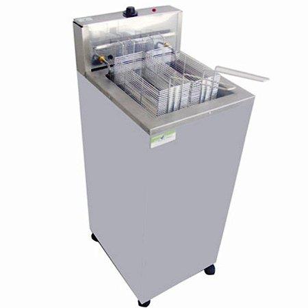 Fritadeira Elétrica 1 Cuba 18 Litros Água e Óleo 5000W - Gabinete
