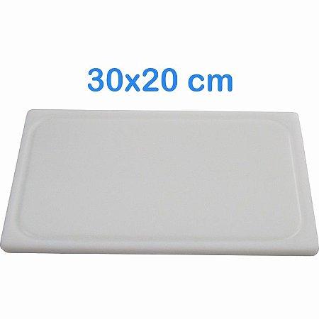 Tabua de Corte 30 x 20cm em Polietileno Branco