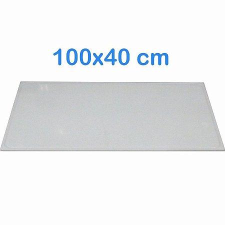 Tabua de Corte 100 x 40cm em Polietileno Branco