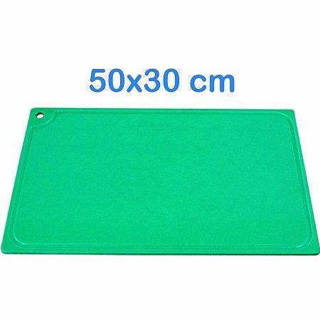 Tabua de Corte 50 x 30cm em Polietileno Verde