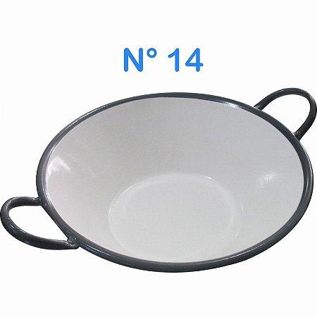 Tacho Esmaltado N°14 Para Frituras 3,5 Litros