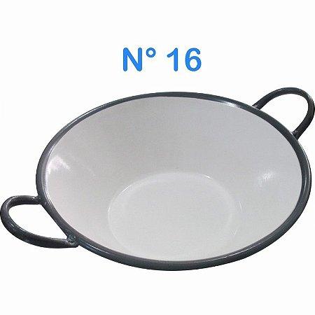 Tacho Esmaltado N°16 Para Frituras 7 Litros