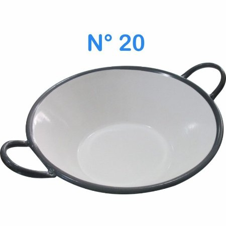 Tacho Esmaltado N°20 Para Frituras 14 Litros