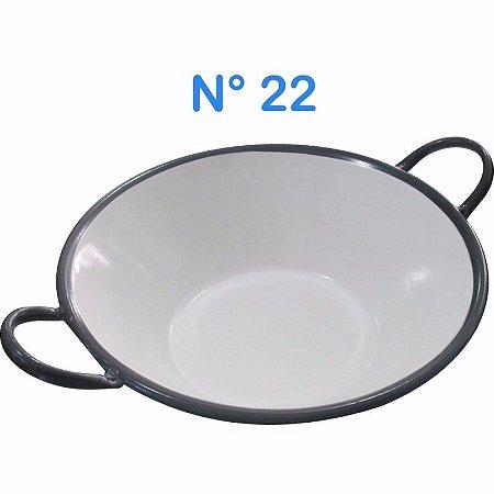 Tacho Esmaltado N°22 Para Frituras 20 Litros