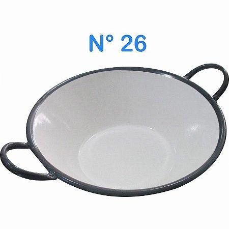 Tacho Esmaltado N°26 Para Frituras 27 Litros