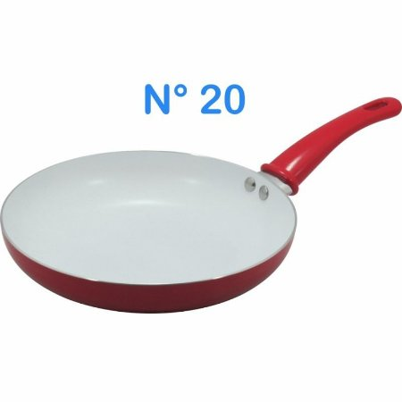 Frigideira N° 20 Vermelha Com Revestimento Cerâmico Anti-adr