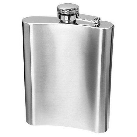 Cantil De Bolso Em Aço Inox 7oz 210ml Whisky Vodka