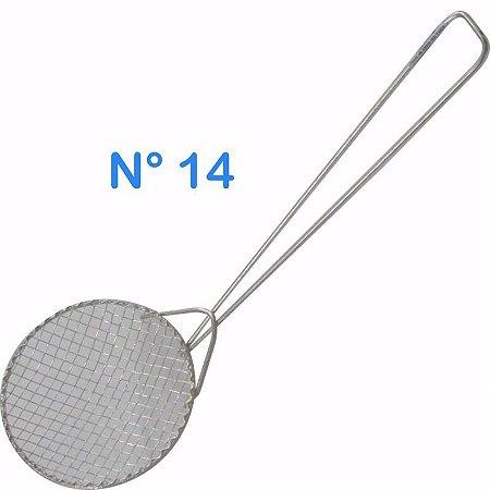 Escumadeira Telada N° 14 Para Pasteis E Frituras