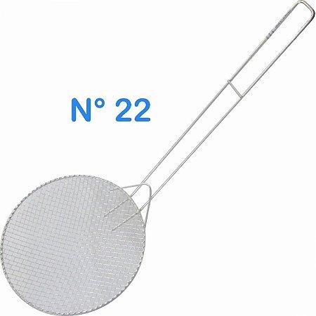 Escumadeira Telada N° 22 Para Pasteis E Frituras